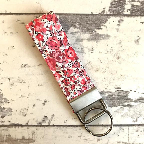 The Black Dog Company Key Ring Fob Liberty Phoebe Floral Key Ring Fob