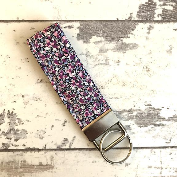 The Black Dog Company Key Ring Fob Lilac Speckle Key Ring Fob