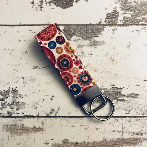 The Black Dog Company Key Ring Fob Pink Aurelia Circles Key Ring Fob