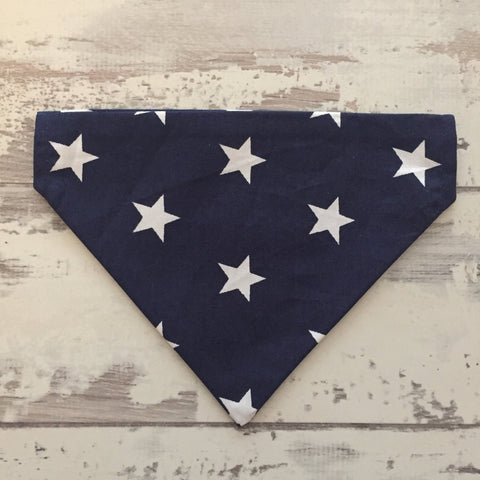 The Black Dog Company Navy with White Stars Bandana