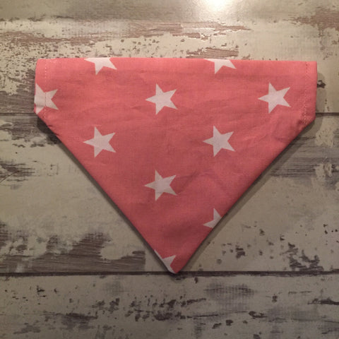 The Black Dog Company Pink with White Stars Bandana