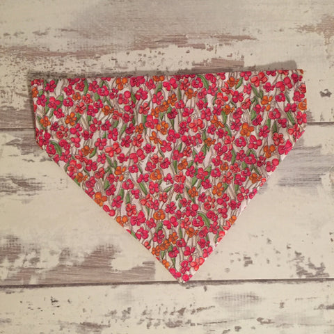 The Black Dog Company Spring Poppies Bandana