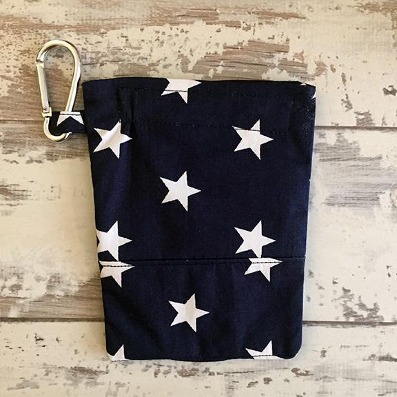 The Black Dog Company Treat & Poobag Holder Navy with White Stars Treat & Poo Bag Holder