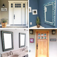 Customized Mosaics from Green Street Mosaics -- Mosaic Mirrors and House Number Signs