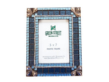 Blue and Silver Mosaic Picture Frame, Picture Frame, Green Street Mosaics