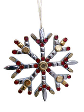 Christmas Ornament Snowflake Red Gold Silver