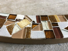 Brown Mosaic Wall Mirror, OVAL Mosaic Mirror, Green Street Mosaics