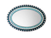 Oval Wall Mirror, OVAL Mosaic Mirror, Green Street Mosaics