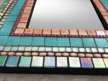 Square Accent Mirror, Square Mosaic Mirror, Green Street Mosaics
