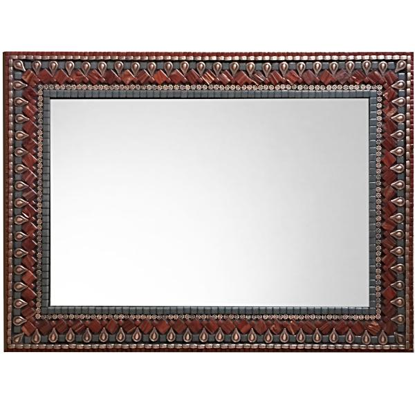 Rectangular mosaic mirror handcrafted with glass mosaic