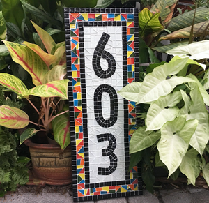Whimsical Outdoor House Numbers