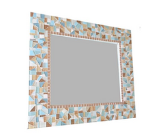 Custom Mosaic Mirrors for Al, Rectangular Mosaic Mirror, Green Street Mosaics