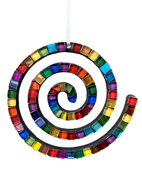 Holiday Ornament - Spiral Rainbow