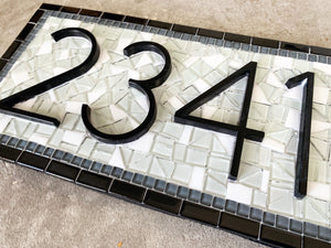 Address Sign with Cardinal, House Number Sign, Green Street Mosaics