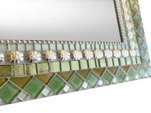 Green and Silver Wall Mirror