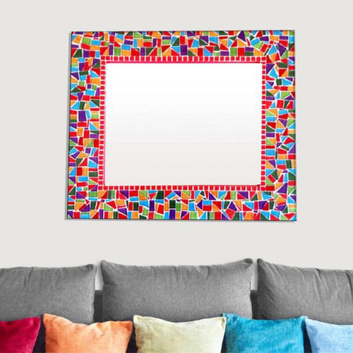 Multicolored Mosaic Wall Mirror
