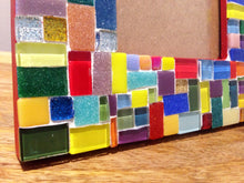 Multicolored Mosaic Picture Frame, Picture Frame, Green Street Mosaics