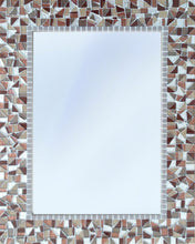 Handcrafted Mosaic Wall Mirror, Rectangular Mosaic Mirror, Green Street Mosaics