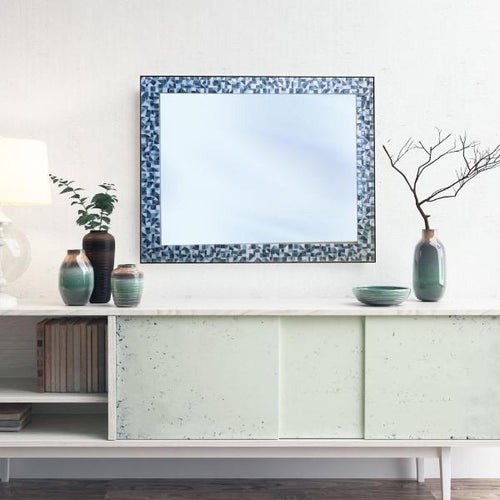 Large Mosaic Mirror, Rectangular Mosaic Mirror, Green Street Mosaics
