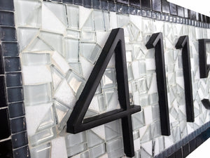Mosaic House Number Sign with Starfish, House Number Sign, Green Street Mosaics