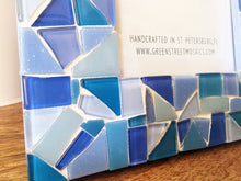 Blue Mosaic Picture Frame, Picture Frame, Green Street Mosaics