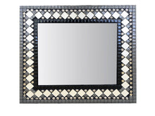 Contemporary Mosaic Mirror, Rectangular Mosaic Mirror, Green Street Mosaics