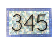 Outdoor House Number Plaque for Beach House, House Number Sign, Green Street Mosaics