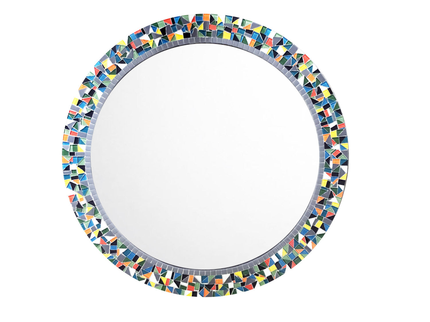 Colorful Round Mosaic Wall Mirror