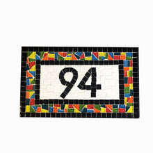 Whimsical Outdoor House Numbers, House Number Sign, Green Street Mosaics