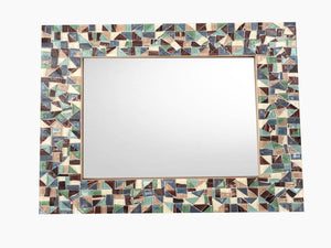 Decorative Mosaic Mirror, Rectangular Mosaic Mirror, Green Street Mosaics