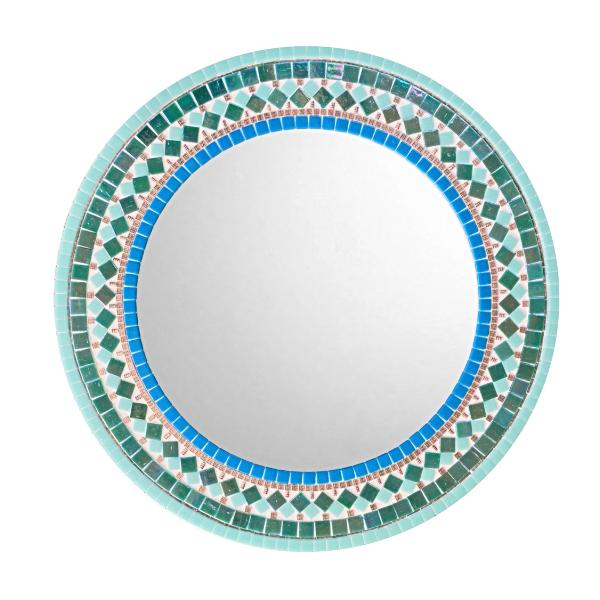 Round wall mirror for bathroom