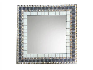 "Custom Size for John T. 34 x 30"" Rectangle (H), Rectangular Mosaic Mirror, Green Street Mosaics"