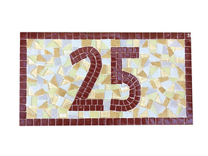 Mosaic Outdoor House Number Sign, House Number Sign, Green Street Mosaics
