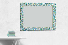Large Mirror for Bathroom, Rectangular Mosaic Mirror, Green Street Mosaics