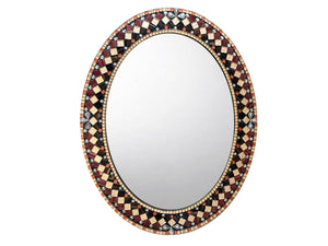 Oval mosaic mirror
