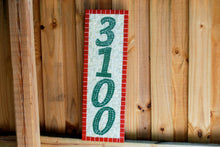 Red Yellow Green Mosaic Address Sign, House Number Sign, Green Street Mosaics