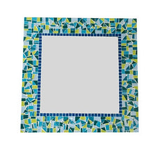 Turquoise and Lime Green Mosaic Mirror
