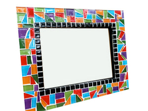 Colorful Mosaic Picture Frame, Picture Frame, Green Street Mosaics