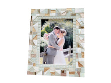 White and Gold Mosaic Picture Frame, Picture Frame, Green Street Mosaics