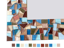 Rectangular Mosaic Mirror, Rectangular Mosaic Mirror, Green Street Mosaics