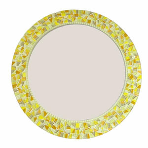Yellow Mosaic Mirror