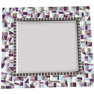 Purple and Gray Wall Mirror