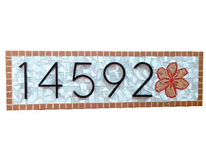 House Number Sign with Flower, House Number Sign, Green Street Mosaics