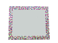 Teen Bedroom Mirror, Rectangular Mosaic Mirror, Green Street Mosaics