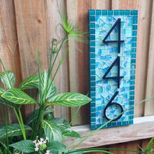 Customized Address Sign, House Number Sign, Green Street Mosaics