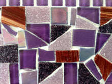 Mosaic Mirror Purple and Red, Rectangular Mosaic Mirror, Green Street Mosaics