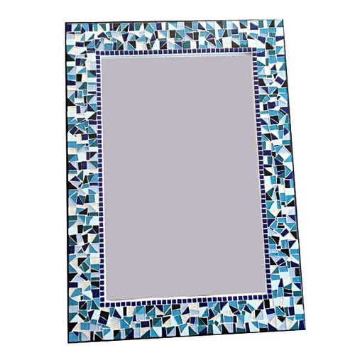 Mosaic Wall Mirror, Rectangular Mosaic Mirror, Green Street Mosaics
