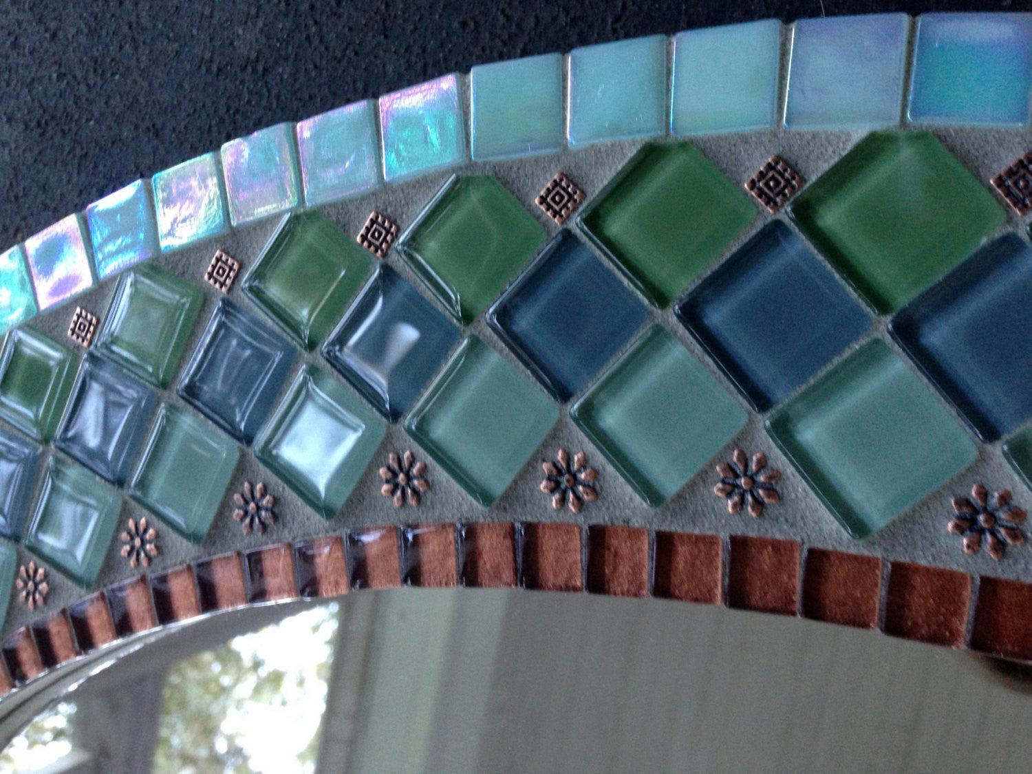 Mosaic Mirror for Bathroom – Green Street Mosaics