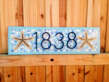 House Number Plaque for Beach House, House Number Sign, Green Street Mosaics
