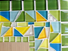 Green and Yellow Mosaic Mirror, Rectangular Mosaic Mirror, Green Street Mosaics